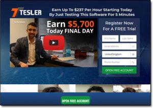 Tesler Trading Website Screenshot