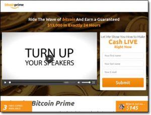 Bitcoin Prime Website Screenshot