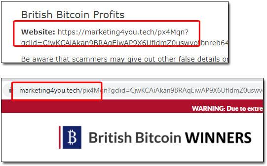 British Bitcoin Winners Domain