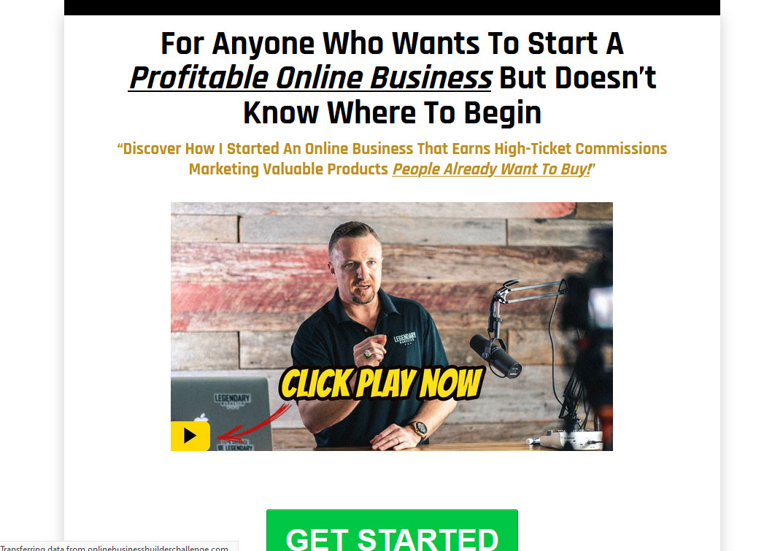 15 Day Online Business Builder Challenge Website Screenshot