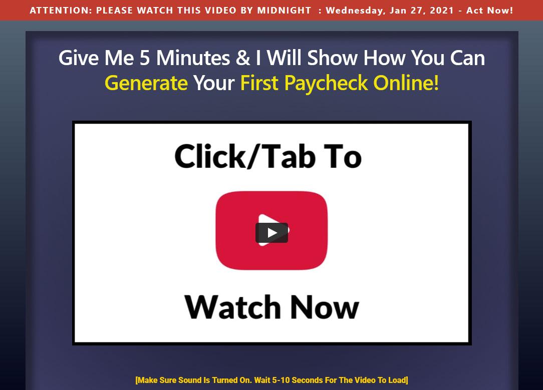 Click Wealth System Website Screenshot