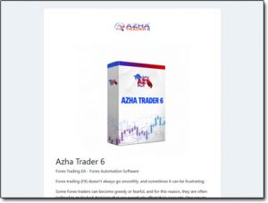 Azha Trader 6 Website Screenshot