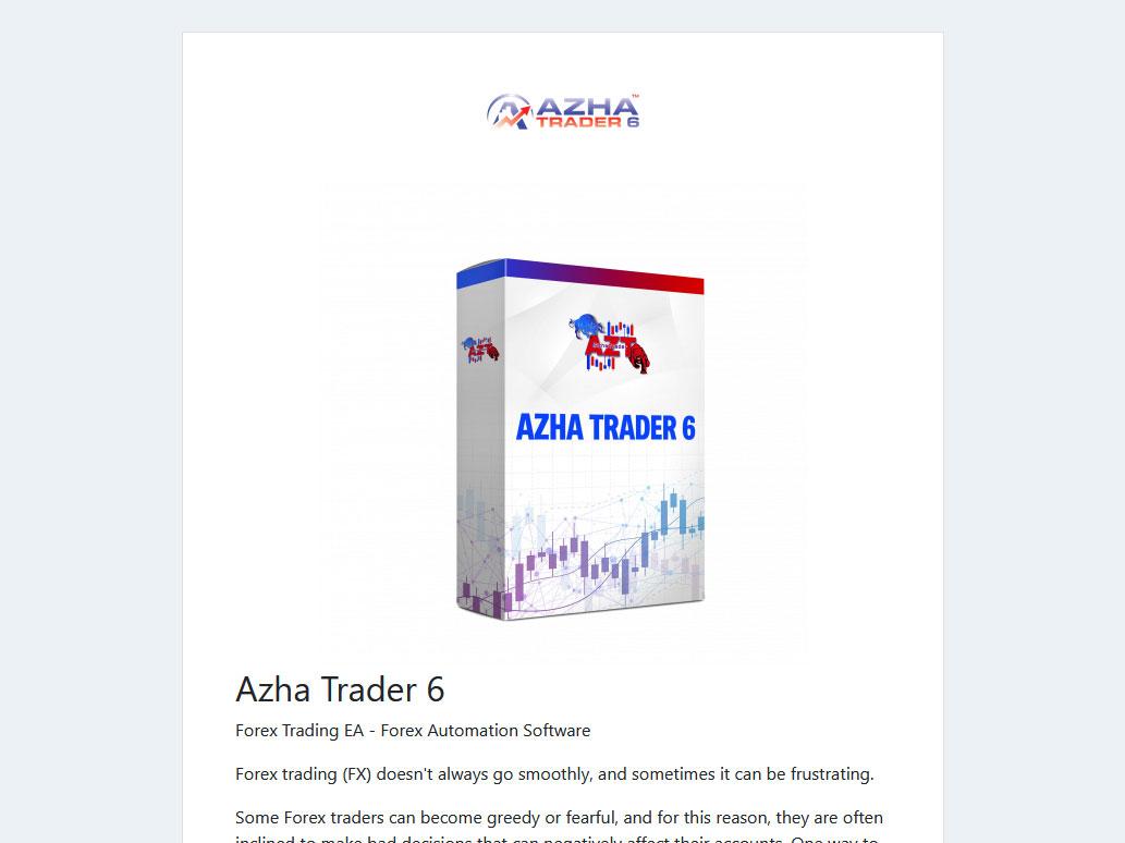 Azha Trader 6 Website Screenshot