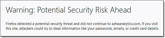 Azha Trader 6 Firefox Warning