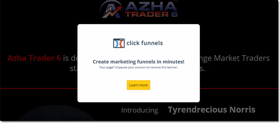 Azha Trader 6 Website Paused