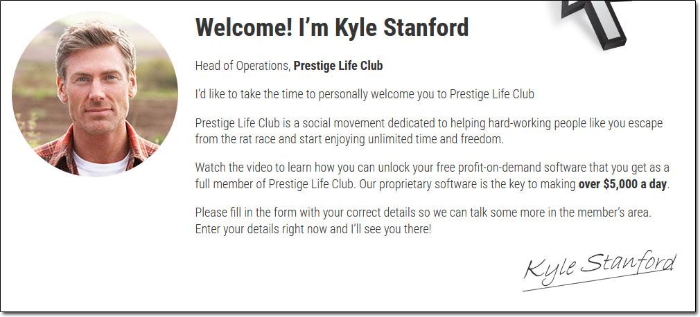 Prestige Life Club Kyle Stanford Screenshot