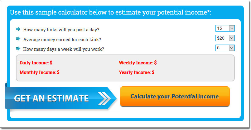 Rapid Profit Package Income Calculator