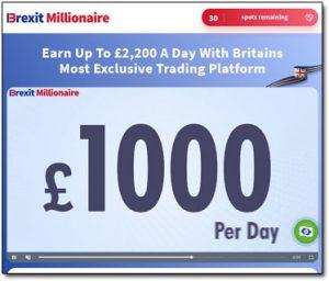 Brexit Millionaire Website Screenshot