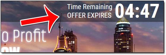Dubai Profit Now Scarcity Timer