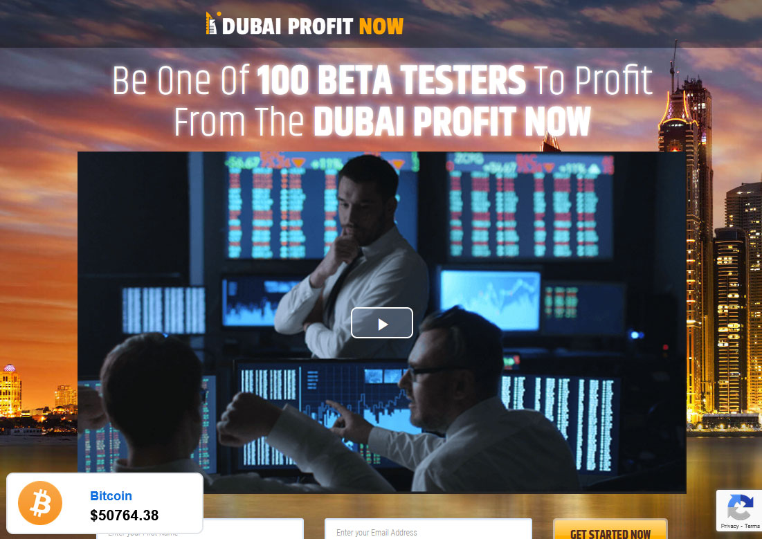 Dubai Profit Now Website Screenshot