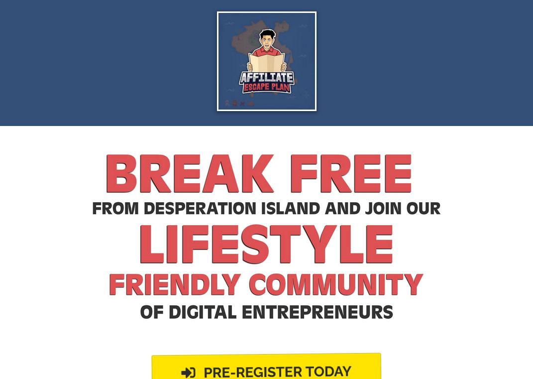 Affiliate Escape Plan Website Screenshot