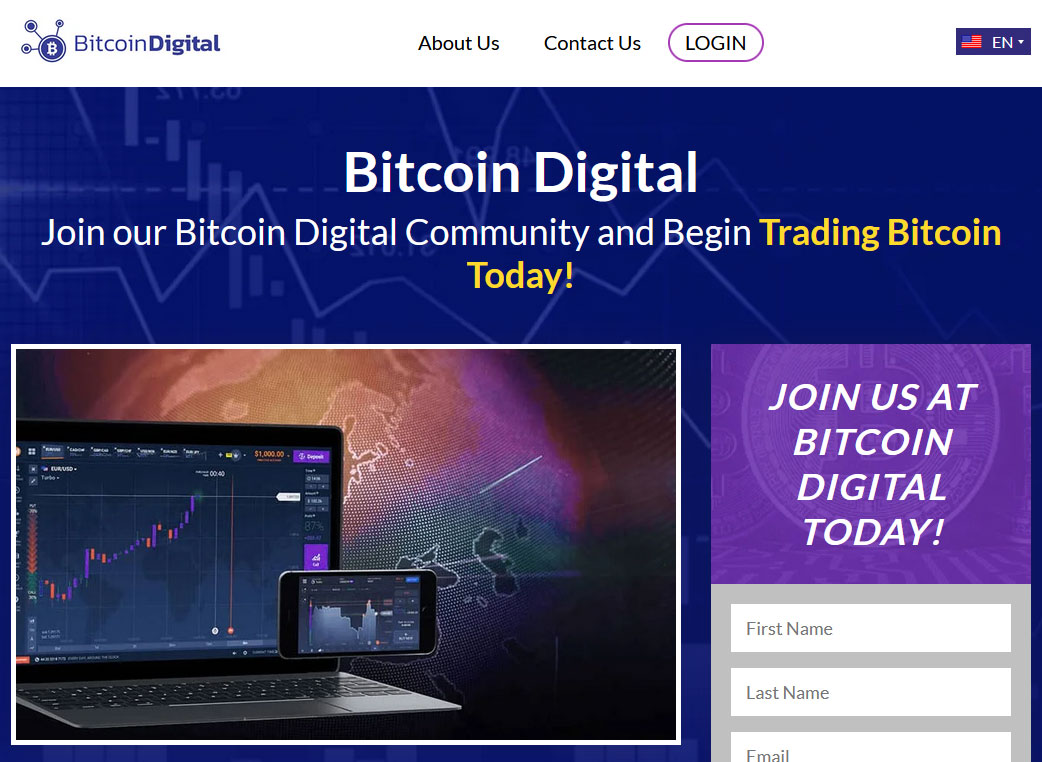 Bitcoin Digital Website Screenshot