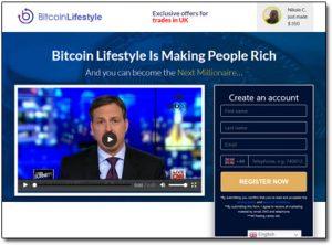 Bitcoin Lifestyle App Website Screenshot