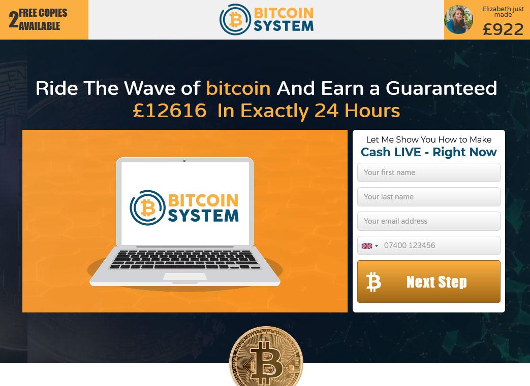 Bitcoin System Website Screenshot