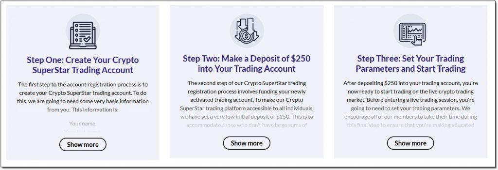 Crypto Superstar Steps