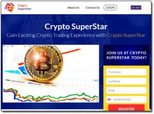 Crypto Superstar Website Screenshot