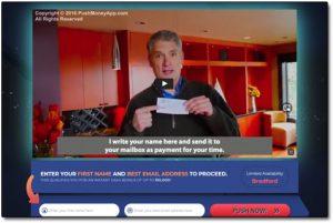 Push Money App Website Screenshot