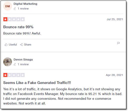 Simple Traffic Negative Reviews