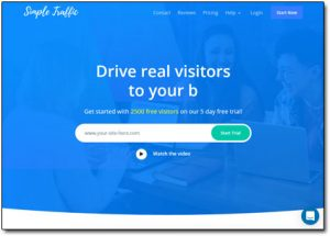 Simple Traffic Website Screenshot