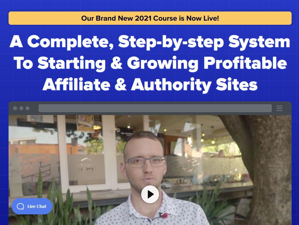 The Authority Site Sytem Website Screenshot